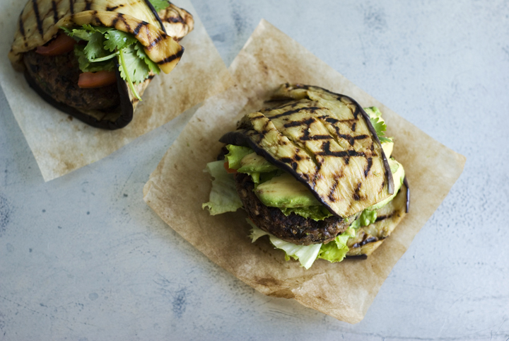 Black Bean and Red Pepper Burgers | Veggies on the counter